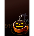 Coffee cup design for halloween vector image