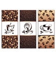 coffee tea banners vector image vector image
