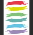 colored brushstrokes retro prints texture set vector image vector image
