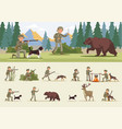 colorful hunting concept vector image vector image