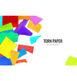 colorful torn paper background vector image