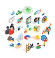 constant care icons set isometric style vector image vector image