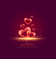 creative love background for valentines day vector image