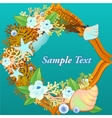 Decorative card with corals and flowers vector image vector image