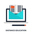 distance education vector image vector image