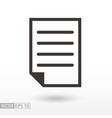 document flat icon sign file vector image vector image