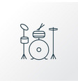 drums icon line symbol premium quality isolated vector image