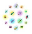 e-cigarettes icons set vector image