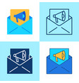 e-mail marketing icon set in flat and line style vector image