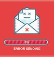 envelope emoji flat email drunk vector image vector image