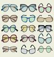 fashion Set icon of colored Sunglasses vector image