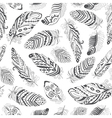 Feathers Boho Seamless Pattern vector image vector image