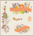Floral autumn compositions vector image vector image
