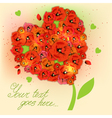 Floral decorative background with poppies EPS10 vector image vector image