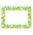 frame grass vector image vector image