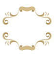 frame with ornamental floral gold elements vector image vector image