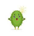funny surprised surprised cactus cute frightened vector image vector image