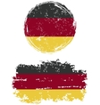 Germany round and square grunge flags vector image vector image