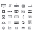 gray computer device icon design vector image vector image