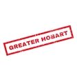 Greater Hobart Rubber Stamp vector image vector image