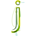 Green letter J vector image vector image