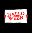 halloween red devil hand holding white sheet vector image vector image