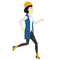 Happy woman jogging vector image