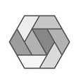hexagon icon polygon symbol logo and vector image