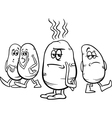 hot potato saying coloring page vector image vector image