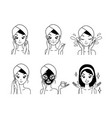 icon mask treatment girl vector image vector image