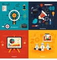 Icons for marketing management analytics vector image vector image