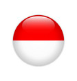 indonesia flag on button vector image