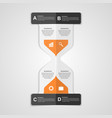 Infographics hourglass design paper style concept vector image vector image