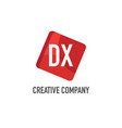 initial letter dx logo template design vector image vector image