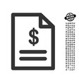 invoice icon with professional bonus vector image vector image
