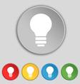 Light lamp Idea icon sign Symbol on five flat vector image