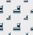 lunch box icon sign Seamless pattern with vector image vector image
