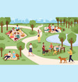 park picnic family rest in city vector image vector image