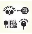 Ping-pong club isolated logotypes vector image vector image