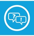 Question answer sign icon vector image