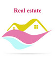 real estate icon vector image