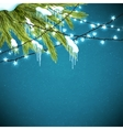 Realistic christmas background vector image vector image
