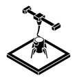 rocket d printing icon simple style vector image vector image
