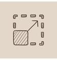 Scalability sketch icon vector image vector image