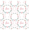 seamless love pattern vector image
