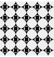 Seamless pattern black and white geometric vector image vector image