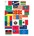 set of 21 flags countries started with M vector image