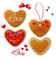 Set of Happy Valentines day cookie vector image vector image
