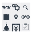 Set of icons flat sunglasses binoculars vector image