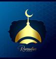 shiny golden mosque design for ramadan kareem vector image vector image
